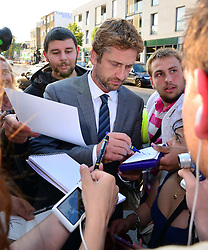 Novak Djokovic Foundation - London Gala Dinner<br /> Gerard Butler attends the inaugural London fundraiser in aid of tennis champion's foundation raising funds for vulnerable and disadvantaged children, especially in his native Serbia. Takes place day after men's Wimbledon final. Roundhouse, Chalk Farm Road, London, United Kingdom<br /> Monday, 8th July 2013<br /> Picture by Nils Jorgensen / i-Images