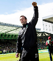 24/05/15 SCOTTISH PREMIERSHIP<br /> CELTIC v INVERNESS CT<br /> CELTIC PARK - GLASGOW<br /> Celtic manager Ronny Deila celebrates at full-time<br /> ** ROTA IMAGE - FREE FOR USE **