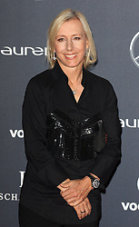 MARTINA NAVRATILOVA arrives at the Laureus Sport Awards held at the Queen Elizabeth II Centre, London, Monday February 6, 2012. Photo By i-Images