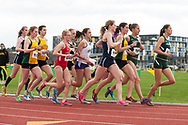 during the first day of the America East Track and Field Championship at the Frank H. Livak Track and Field Facility on Saturday May 3, 2014 in Burlington, Vermont. (BRIAN JENKINS, for the Free Press)
