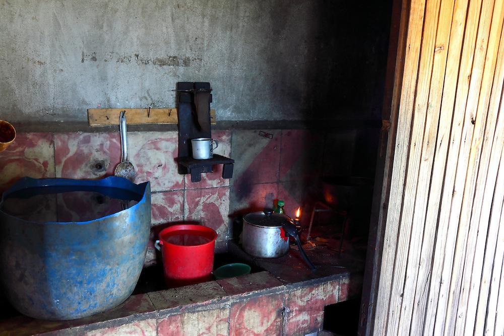 Kitchen on the south coast road from Santiago de Cuba to Pilon.