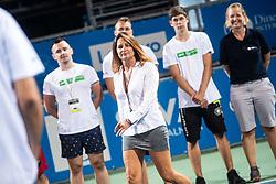 Anja Regent during trophy ceremony after mens final of Zavarovalnica Sava tournament at ATP Challenger Zavarovalnica Sava Slovenia Open 2019, day 2, on August 10th 2019 in Sports centre, Portoroz/Portorose, Slovenia. Photo by Grega Valancic / Sportida