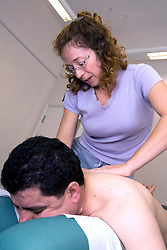 Patient being treated by a Chiropractor,