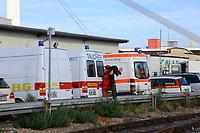 Mannheim. 29.07.17   &Uuml;bung um M&uuml;hlauhafen<br /> M&uuml;hlauhafen. Rettungs&uuml;bung von Feuerwehr DLRG und ASB. Das Szenario: Ein Fahrgastschiff brennt und die Passagiere m&uuml;ssen gerettet werden. <br /> Auf der MS Oberrhein wird ge&uuml;bt. Dazu ankert das Schiff in der Fahrrinne des M&uuml;hlauhafens. Das Feuerl&ouml;schboot Metropolregion 1 kommt dazu.<br /> <br /> BILD- ID 0918  <br /> Bild: Markus Prosswitz 29JUL17 / masterpress (Bild ist honorarpflichtig - No Model Release!)