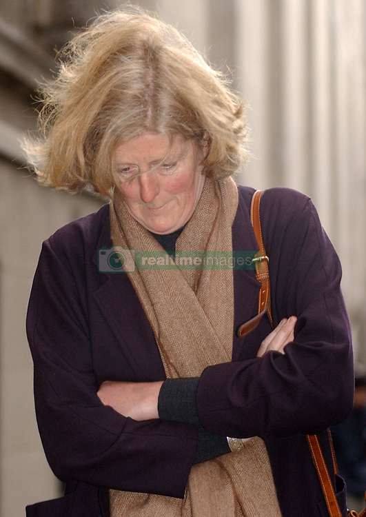 Princess Diana's sister, Lady Jane Fellows, leaves the Old Bailey after giving evidence at the trial of Paul Burrell.