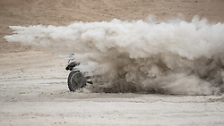 AREQUIPA, Jan. 11, 2019  Peruvian driver Nicolas Fuchs and Argentine co-driver Fernando Adrian Mussano compete during the 4th stage of the 2019 Dakar Rally Race, near La Joya, Arequipa province, Peru, on Jan. 10, 2019. Nicolas Fuchs and Fernando Adrian Mussano finished the 4th stage with 5 hours 29 minutes and 55 seconds. (Credit Image: © Xinhua via ZUMA Wire)