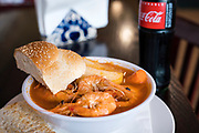 Caldo de camaron (Shrimp soup) at El Panzon Panaderia in Madison, Wisconsin, Thursday, June 20, 2019.