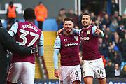 Aston Villa's Scott Hogan scores a goal and celebrates with Aston Villa's Conor Hourihane during the EFL Sky Bet Championship match between Aston Villa and Burton Albion at Villa Park, Birmingham, England on 3 February 2018. Picture by John Potts.