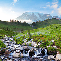 &quot;Of all the fire mountains which like beacons, once blazed along the Pacific Coast, Mount Rainier is the noblest.&quot;<br />