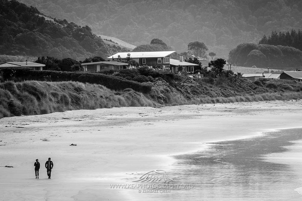 Walking along Porpoise Bay, Catlins, New Zealand