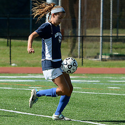 Staff photos by Tom Kelly IV<br /> Agnes Irwin's Kristin Burnetta (4) controls the ball during the Agnes Irwin School vs Strath Haven girls soccer scrimmage in Nether Providence Township, Thursday August 28, 2014.