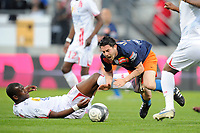 FOOTBALL - FRENCH CHAMPIONSHIP 2009/2010 - L1 - AS NANCY v MONTPELLIER HSC - 24/04/2010 - PHOTO GUILLAUME RAMON / DPPI - GREGORY LACOMBE (MONTPELLIER)