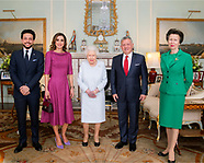 Queen Rania & King Abdullah Meet Queen Elizabeth