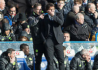Football - 2016 / 2017 Premier League - Chelsea vs. Arsenal <br /> <br /> Chelsea's Steve Holland makes an observation to Chelsea Manager Antonio Conte at Stamford Bridge.<br /> <br /> COLORSPORT/DANIEL BEARHAM