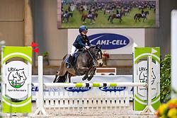 Hoste Chloe, BEL, Fioco<br /> Nationaal Indoor Kampioenschap Pony's LRV <br /> Oud Heverlee 2019<br /> © Hippo Foto - Dirk Caremans<br /> 09/03/2019