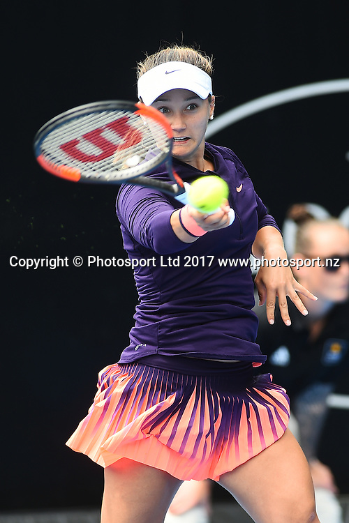 Laurne Davis (USA) during the ASB Classic WTA Womens Tournament Day 2. ASB Tennis Centre, Auckland, New Zealand. Tuesday 3 January 2017. ©Copyright Photo: Chris Symes / www.photosport.nz