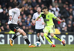 Jamie Paterson of Huddersfield Town (R) in action - Mandatory byline: Jack Phillips/JMP - 05/03/2016 - FOOTBALL - iPro Stadium - Derby, England - Derby County v Huddersfield Town - Sky Bet Championship