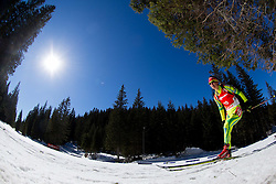 GREGORIN Teja of Slovenia competes during Women 12.5 km Mass Start competition of the e.on IBU Biathlon World Cup on Sunday, March 9, 2014 in Pokljuka, Slovenia. Photo by Vid Ponikvar / Sportida