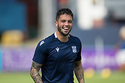 10th August 2019; Dens Park, Dundee, Scotland; SPFL Championship football, Dundee FC versus Ayr; Declan McDaid of Dundee during the warm up before the match