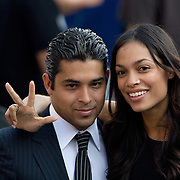 Actor Wilmer Valderama and Actress Rosario Dawson on the fourth day of the Democratic National Committee (DNC) Convention at Invesco Field in Denver, Colorado (CO), Thursday, Aug. 28, 2008.  ..Photo by Khue Bui