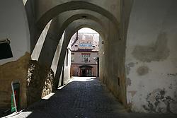 CZECH REPUBLIC VYSOCINA SVITAVY 18APR12 - Arcades and medieval architecture in Svitavy city centre.....jre/Photo by Jiri Rezac....© Jiri Rezac 2012