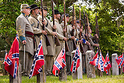 Civil War re-enactors during Confederate Memorial Day events at Magnolia Cemetery April 10, 2014 in Charleston, SC. Confederate Memorial Day honors the approximately 258,000 Confederate soldiers that died in the American Civil War.