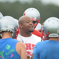 High School Football Practice 2014