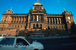 CZECH REPUBLIC PRAGUE APR99 - General view of the National Museum towering over Wenceslas Square. The road in the foreground is the Prague Magistrale, a main atery of traffic going through the town centre.. . jre/Photo by Jiri Rezac. . © Jiri Rezac 1999. . Tel:   +44 (0) 7050 110 417. Email: info@jirirezac.com. Web:   www.jirirezac.com