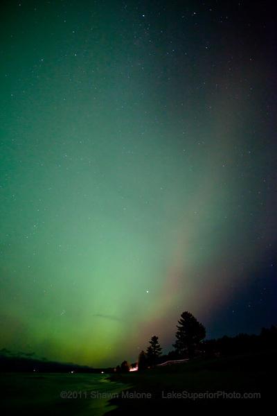 Aurora Borealis Northern Lights over Lake Superior in the Upper Peninsula of Michigan Marquette aurora borealis northern lights in the upper peninsula of michigan