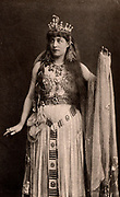 Lillie Langtry (1853-1929) English society beauty and actress who first appeared on the stage in 1881. Here as Cleopatra in  'Antony and Cleopatra' by William Shakespeare. Photogravure published c1895.