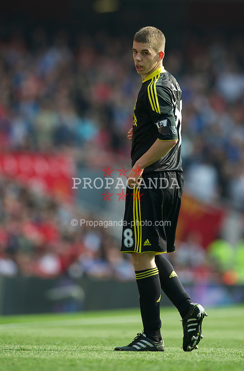 LONDON, ENGLAND - Sunday, April 17, 2011: Liverpool's John Flanagan in action against Arsenal during the Premiership match at the Emirates Stadium. (Photo by David Rawcliffe/Propaganda)