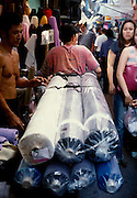 Fabric market in Chinatown