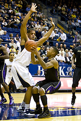 February 11, 2010; Berkeley, CA, USA;  Washington Huskies guard Isaiah Thomas (2) is defended by California Golden Bears forward Jamal Boykin (10) during the second half at the Haas Pavilion.  California defeated Washington 93-81.