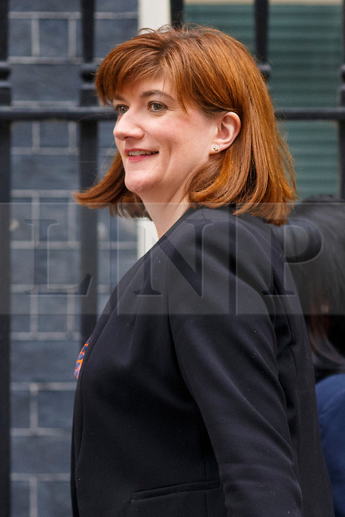 © Licensed to London News Pictures. 09/06/2015. Westminster, UK. Education Secretary NICKY MORGAN attending to a cabinet meeting in Downing Street on Tuesday, 9 June 2015. Photo credit: Tolga Akmen/LNP