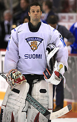 Goalkeeper Niklas Backstrom of Finland at ice-hockey match Finland vs USA at Qualifying round Group F of IIHF WC 2008 in Halifax, on May 11, 2008 in Metro Center, Halifax, Nova Scotia, Canada. (Photo by Vid Ponikvar / Sportal Images)