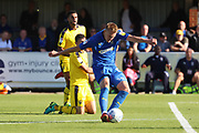 AFC Wimbledon striker Joe Pigott (39) scoring goal to make it 2-0 during the EFL Sky Bet League 1 match between AFC Wimbledon and Oxford United at the Cherry Red Records Stadium, Kingston, England on 29 September 2018.