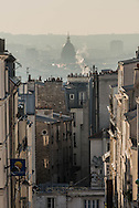 France. Paris. 18th district.  elevated view on Paris from Montmartre hill