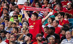 July 31, 2018 - Miami Gardens, Florida, USA - Manchester United F.C. fans during an International Champions Cup match between Real Madrid C.F. and Manchester United F.C. at the Hard Rock Stadium in Miami Gardens, Florida. Manchester United F.C. won the game 2-1. (Credit Image: © Mario Houben via ZUMA Wire)