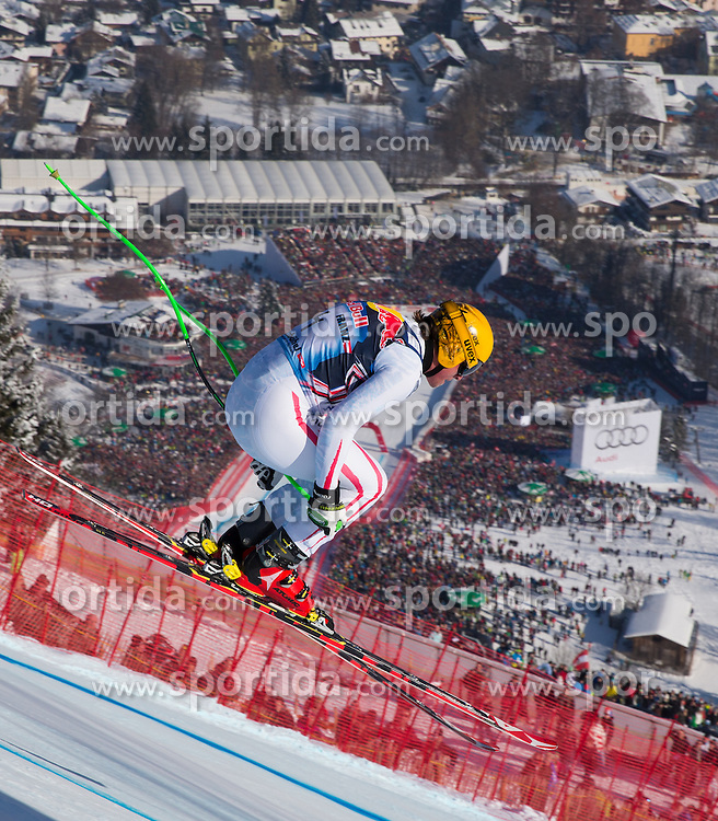 26.01.2013, Streif, Kitzbuehel, AUT, FIS Weltcup Ski Alpin, Abfahrt, Herren, im Bild Max Franz (AUT) // Max Franz of Austria in action during mens Downhill of the FIS Ski Alpine World Cup at the Streif course, Kitzbuehel, Austria on 2013/01/26. EXPA Pictures © 2013, PhotoCredit: EXPA/ Johann Groder