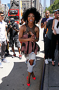 Brandy Norwood attends the #VisitAnaheim in 3D event in the Flatiron District in New York City, New York on June 24, 2015.