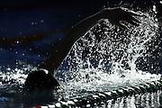 Swimmers warm up, New Zealand Short Course Swimming Championships, Sir Owen G. Glenn National Aquatic Centre, AUT Millennium, Auckland. 11 August 2015. Copyright Photo: William Booth / www.photosport.nz