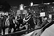 DANCING IN TRAFALGAR SQ. , Extinction Rebellion protests. Westminster, London. 9 October 2019