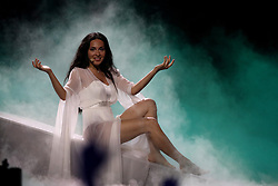 May 7, 2018 - Lisbon, Portugal - Singer Aisel of Azerbaijan performs during the Dress Rehearsal of the first Semi-Final of the 2018 Eurovision Song Contest, at the Altice Arena in Lisbon, Portugal on May 7, 2018. (Credit Image: © Pedro Fiuza/NurPhoto via ZUMA Press)