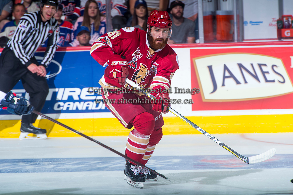 REGINA, SK - MAY 27: Liam Murphy #61 of Acadie-Bathurst Titan skates against the Regina Pats at the Brandt Centre on May 27, 2018 in Regina, Canada. (Photo by Marissa Baecker/CHL Images)