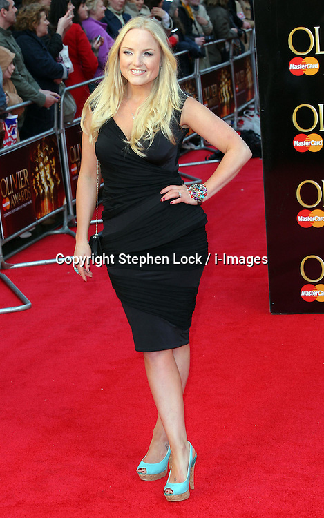 Kerry Ellis  arriving at the Olivier Awards in London, Sunday 15th April 2012.  Photo by: Stephen Lock / i-Images