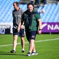 (R-L)  Leicester head coach Matt OConnor and Leicester assistant coach Geordan Murphy during the European Rugby Champions Cup match between Racing 92 and Leicester Tigers on October 14, 2017 in Colombes, France. (Photo by Dave Winter/Icon Sport)