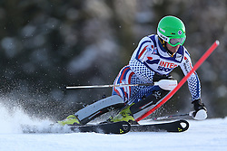 06.01.2014, Stelvio, Bormio, ITA, FIS Weltcup Ski Alpin, Bormio, Slalom, Herren, im Bild Alexander Khoroshilov // Alexander Khoroshilov  in action during mens Slalom of the Bormio FIS Ski World Cup at the Stelvio in Bormio, Italy on 2014/01/06. EXPA Pictures © 2014, PhotoCredit: EXPA/ Sammy Minkoff<br /> <br /> *****ATTENTION - OUT of GER*****