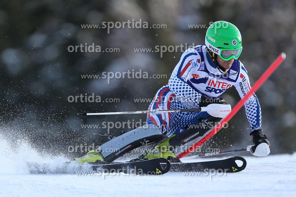 06.01.2014, Stelvio, Bormio, ITA, FIS Weltcup Ski Alpin, Bormio, Slalom, Herren, im Bild Alexander Khoroshilov // Alexander Khoroshilov  in action during mens Slalom of the Bormio FIS Ski World Cup at the Stelvio in Bormio, Italy on 2014/01/06. EXPA Pictures © 2014, PhotoCredit: EXPA/ Sammy Minkoff<br /> <br /> *****ATTENTION - OUT of GER*****