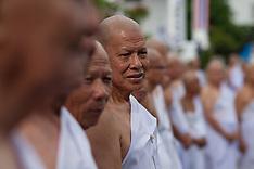 Thailand: Mass ordination to honor the late Thai King Bhumibol Adulyade, 21 Oct. 2016