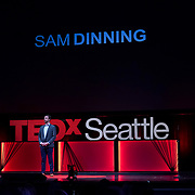 Tall Order TEDx Seattle 2018. Sam Dinning (King County Deputy Prosecuting Attorney). Photo by Alabastro Photography.